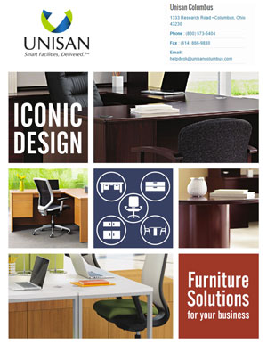 Commercial furniture catalog by Unisan Columbus
